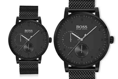 Best Watch Company - Hugo Boss mens oxygen HB1513636 black mesh watch - Save 60%