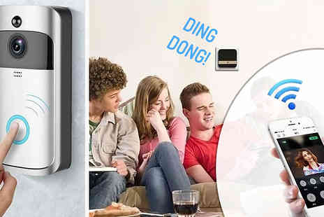 EClife Style - Wireless HD 1080P Wi-Fi DoorBell With Optional Receiver Choose from 2 Colours - Save 73%