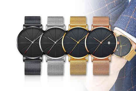 Secret Storz - Mens quartz stainless steel watch choose from four colours - Save 53%