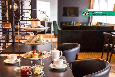Hilton Canary Wharf - Afternoon tea for two people with a sparkling cocktail each - Save 58%