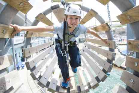 Cardiff International White Water - High Ropes Trail for One, Two or Four - Save 20%