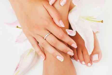 French Tips - Gel Manicure, Pedicure or Both - Save 48%