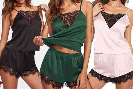Groupon Goods Global GmbH - Womens Camisole and Shorts Sleepwear Set - Save 0%