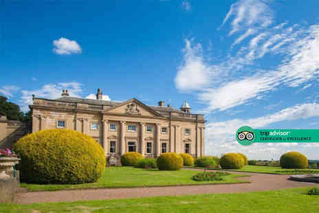 Wortley Hall - Overnight stay for two people with breakfast, a glass of Prosecco and cream tea - Save 45%