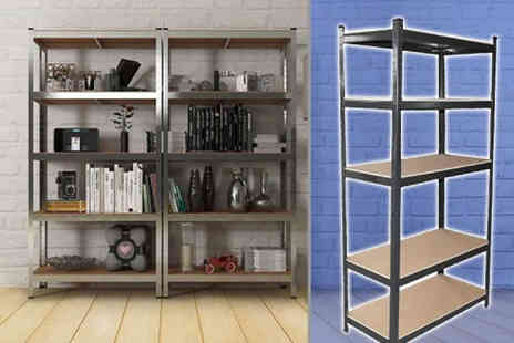 Home Empire - Five tier heavy duty fortified shelving choose between four colours - Save 87%
