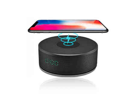 WowWhatWho - 2 in 1 QI wireless charger and Bluetooth speaker - Save 68%