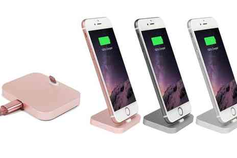 Groupon Goods Global GmbH - Aluminium Charging Dock for iPhone with Optional Braided Cable - Save 0%