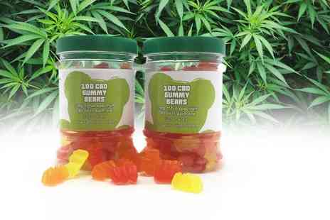 CBD YUMS - Pack of 100 5mg CBD sugar free gummy bears - Save 27%