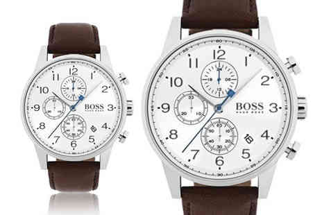 Best Watch Company - Hugo Boss HB1513495 mens brown leather watch - Save 60%
