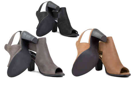 Redfoot - Pair of peep toe ankle boots choose from three colours - Save 66%