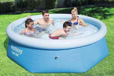 Eurotrade - 8ft Bestway fast set pool - Save 49%
