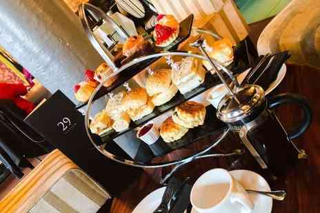 29 Private Members Club - Luxury afternoon tea for two people gin and tonic or glass of Prosecco each - Save 52%