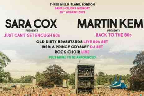 80s in the Park Festival 2019 - One General admission ticket from 26th August 2019 - Save 27%