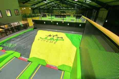Jump Xtreme - One Hour Trampoline Jump Session for Up to Four - Save 25%
