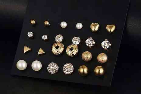 Your Ideal Gift - 12 pairs of mini stud earrings - Save 76%