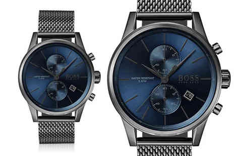The Best Watch Shop - Hugo Boss mens HB1513677 grey chronograph watch - Save 60%