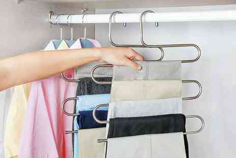 Groupon Goods Global GmbH - Up to Six Stainless Steel Trouser Hangers - Save 0%