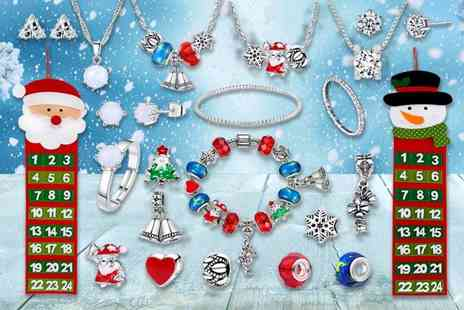 Gemnations - Christmas jewellery advent calendar made with crystals from Swarovski choose from Santa or Snowman - Save 89%