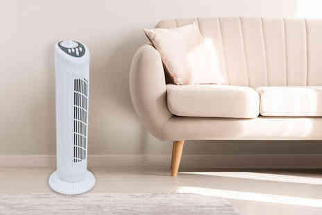 Who Needs Shops - 30 Inch three speed oscillating tower fan - Save 0%