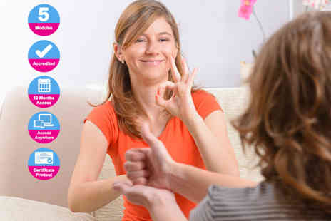 International Open Academy - Accredited Level 2 American Sign Language course - Save 84%