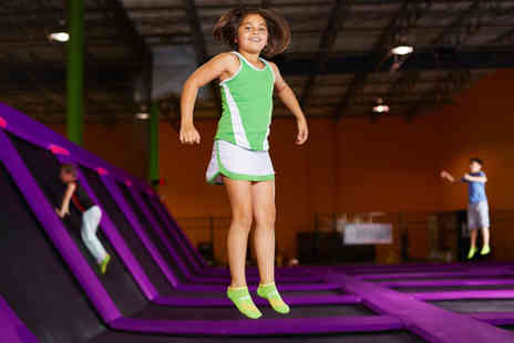 GEORDIELAND - One hour trampoline session with 30 minute soft play access for one - Save 52%