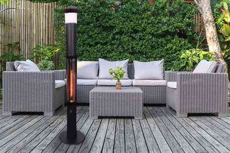 Groundlevel - Patio electric heater with Led light and Bluetooth speaker - Save 67%