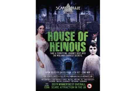 Walsall Scare Maze - Entry to House Of Heinous Experience for One, Two or Four - Save 40%