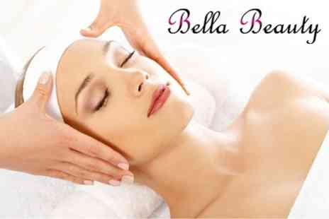 Bella Beauty - Choice of Beauty Treatments Lasting 90 Minutes Including Massage, Facial, Threading and More - Save 67%