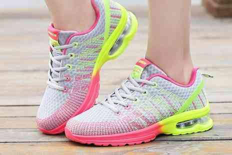 SecretStorz - Pair of neon running trainers choose from three colours - Save 68%