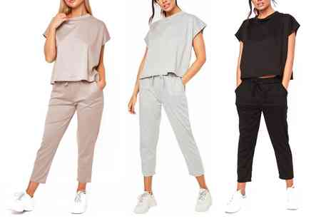 Groupon Goods Global GmbH - Womens Boxy Lightweight Tracksuit - Save 0%