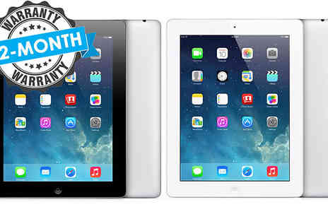 The iOutlet - Wi-Fi or Cellular Apple iPad 3 in Black or White Choose from 16GB, 32GB or 64GB - Save 0%