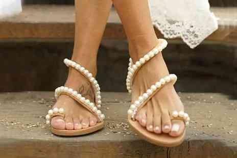 BluFish - Pair of womens pearl flat sandals - Save 0%