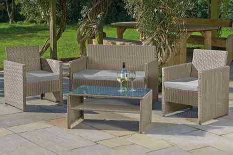 Esher Mail Order - Four piece rattan garden lounge set - Save 61%