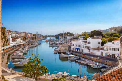 Crystal Travel - Three nights self catered Menorca holiday with return flights - Save 49%
