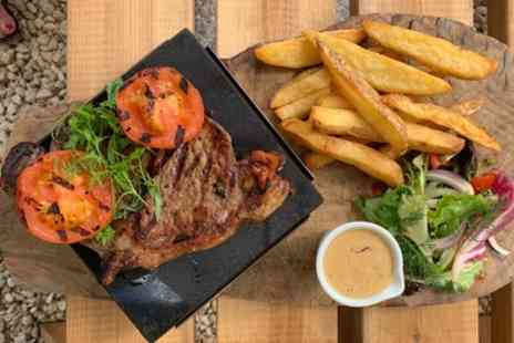 The Steamhouse - Hot Stone Steak Meal With Glass of Wine For Two or Four - Save 54%