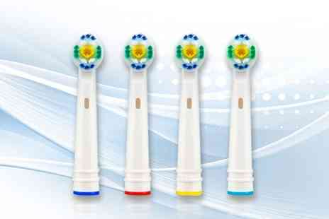 WowWhatWho - Four pack of OralB compatible toothbrush heads - Save 87%