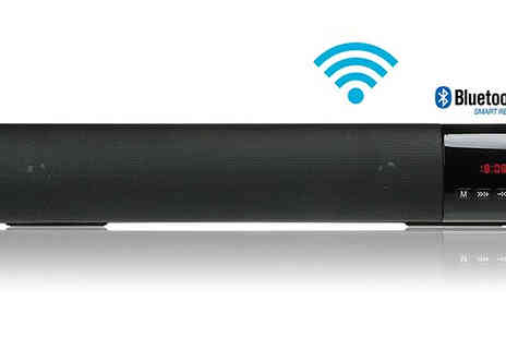 EClife Style - Two In One Wireless Surround Soundbar And Clock Choose from Five Colours - Save 67%