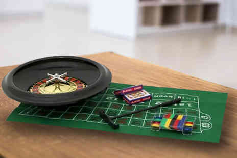 Who Needs Shops - 16 Inch roulette wheel set with felt, chips, cards & rake - Save 73%