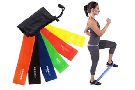 Groupon Goods Global - Vivo Six Level Exercise Loop Resistance Bands - Save 73%