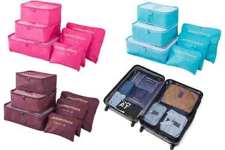 Groupon Goods Global GmbH - Six-Piece Luggage Organiser Bag Sets in Choice of Colour - Save 0%