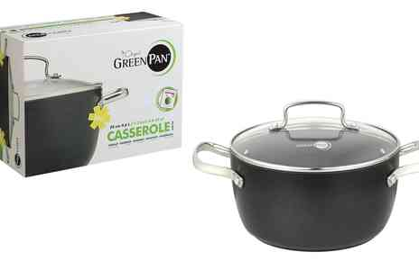 Groupon Goods Global GmbH - GreenPan Non Stick Casserole Pan with 24cm Lid - Save 0%