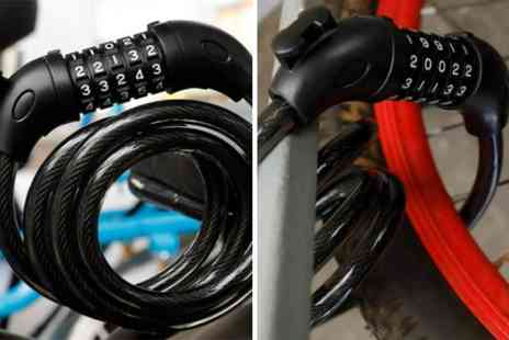 hey4beauty - Bike five digit security cable lock choose from five colours - Save 65%