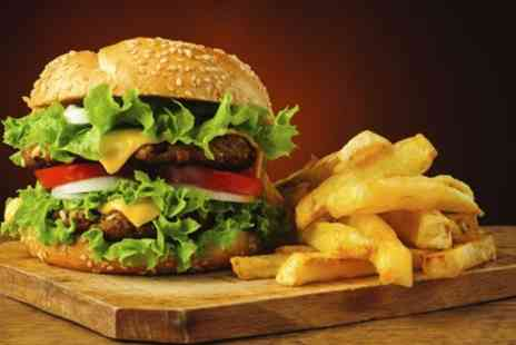 Rehmats - Burger with Fries and Soft Drink for Up to Four - Save 41%