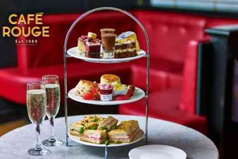 Cafe Rouge - Traditional or Prosecco Afternoon Tea for Two - Save 20%