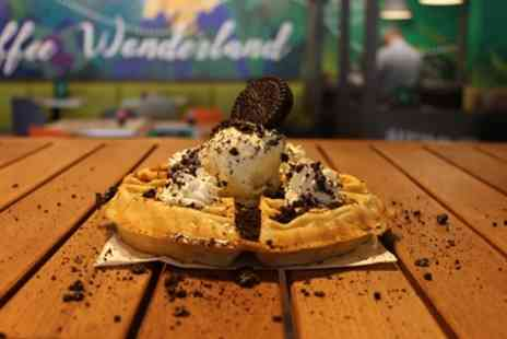 Mangobean - Choice of Waffle or Cake with Tea or Coffee for One or Two - Save 29%