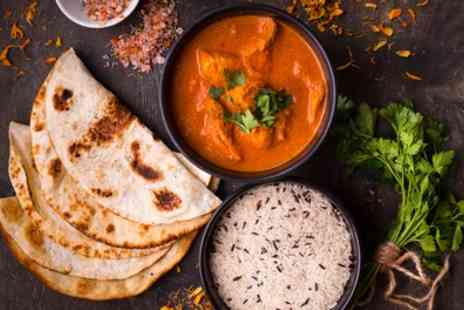 Tiffin Lounge - Two Course Indian Meal with Rice, Poppadom, Chutney Tray and Drink for 2 or 4 - Save 32%