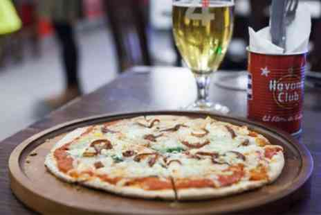 Bar 50 - Choice of Pizza with Optional Cocktail Pitcher for Two or Four - Save 27%