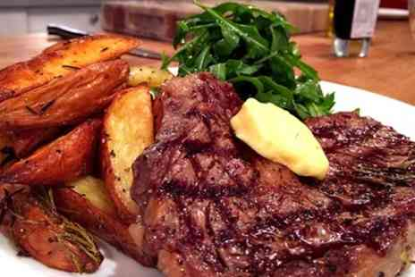 The Church Bar and Restaurant - Steak Meal with Wine for Two or Four at The Church Bar and Restaurant, Northampton (Up to 60% Off) - Save 60%