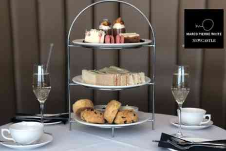 Marco Pierre White Steakhouse Bar & Grill - Afternoon Tea and Drinks for Two - Save 52%