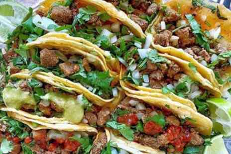 Taco Mex Mexican Street Chef - Burrito, Enchilada or Chimichanga with Nachos Each for Two or Four - Save 54%